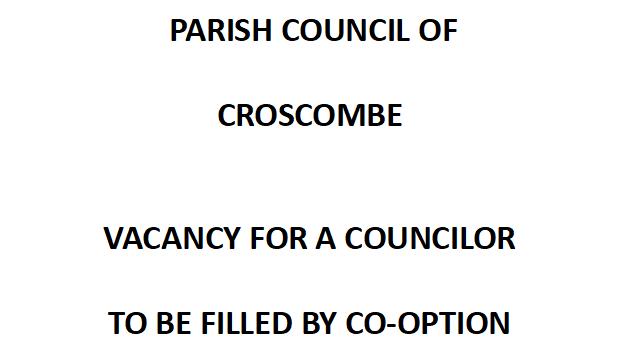 Croscombe News - Councillor Vacancy